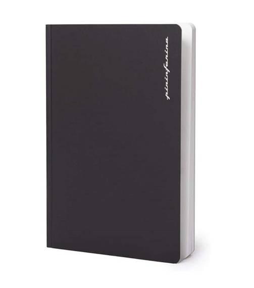 PININFARINA Segno Notebook Stone Paper, notes z kamienia, czarna okładka, linie