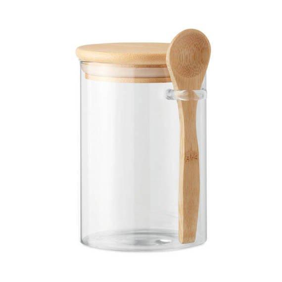 Szklany słoik z łyżką, 600 ml